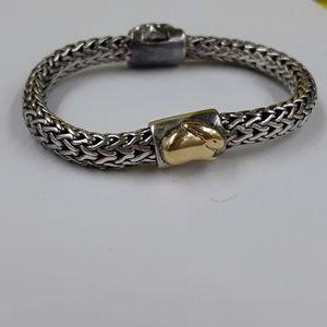 Authentic John Hardy baby bunny 925/18k bracelet